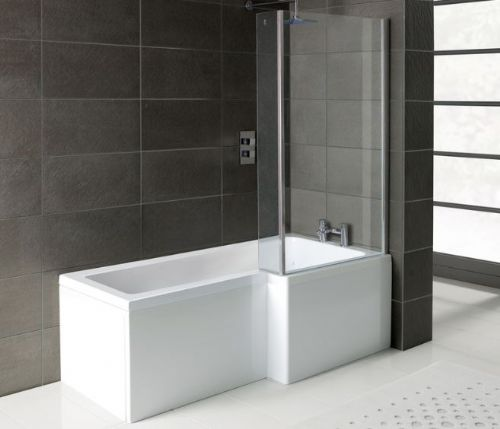 Serenity 1700mm shower bath pack inc front panel and shower screen